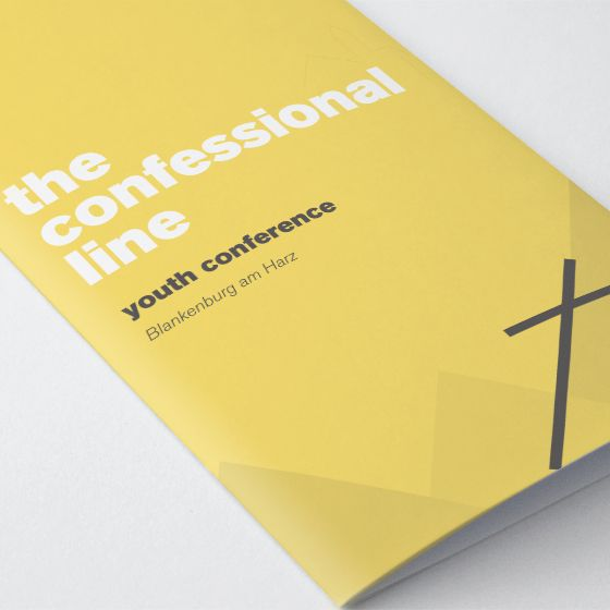 Youth Conference Agenda Booklet Design  The Confessional Line  K