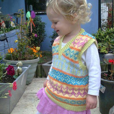 Les Petits Anglais: Free pattern - Fair Isle tank-top/vest | baby ...