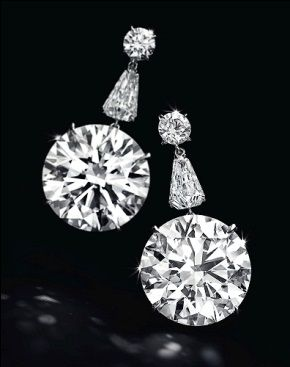 A pair of D-color internally flawless circular-cut diamonds—one 22.6 cts., one 22.31 cts.—were the stars of the show at the Christie's April 16 Magnificent Jewels auction in New York, fetching $8,565,000 from a Middle East trade buyer.