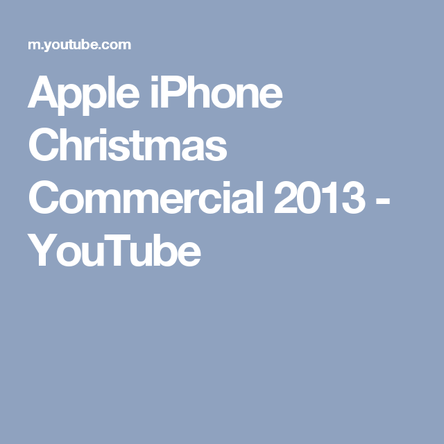 apples apple iphone christmas commercial