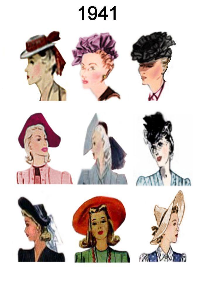 1930 S Mens Hairstyles 1940s Fashion Fashion History Hats Vintage