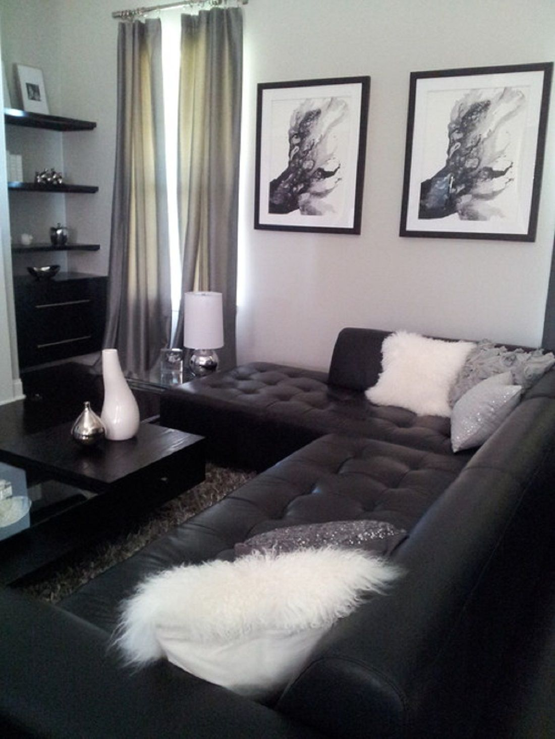 Room Black And White Living
