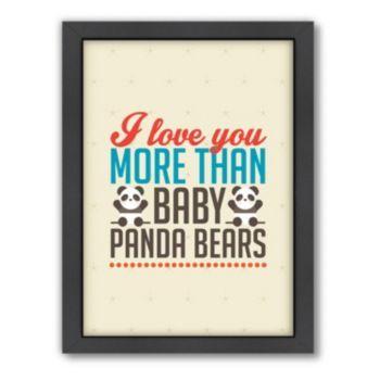Americanflat Patricia Pino ''Love Pandas'' Framed Wall Art #babypandabears