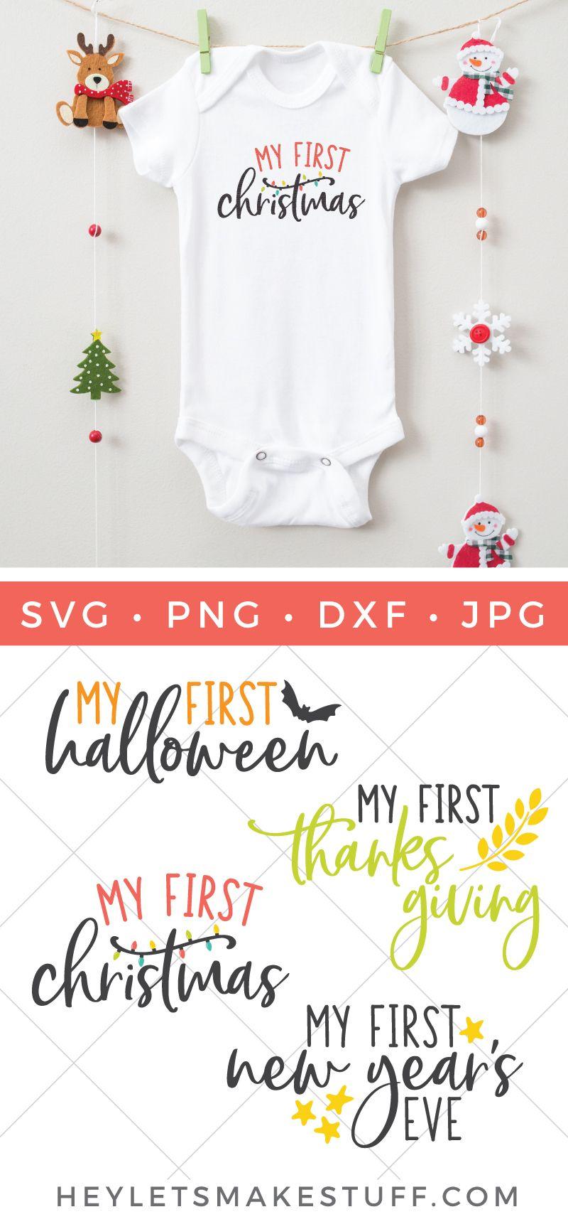Baby's First Holiday SVG Bundle Christmas bib, Holiday