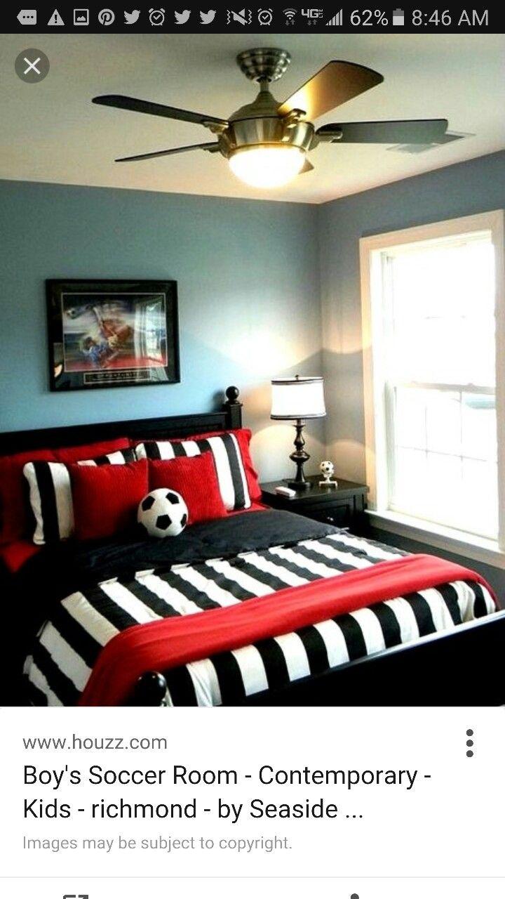 Soccer Room Decor Boys Boy Theme Football Bedroom