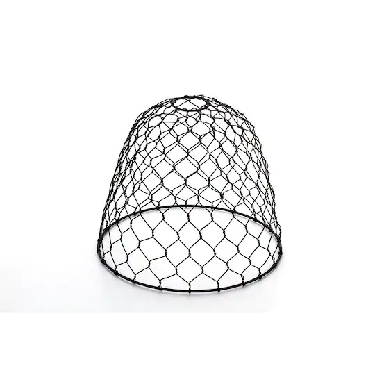 Vintage Style Chicken Wire Lamp Shade: Black Dome Pendant