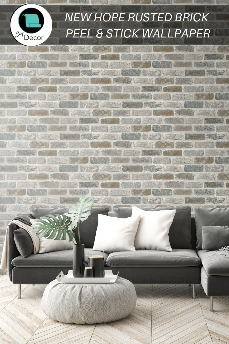 Wallpaper Peel And Stick Brick Peel And Stick Wallpaper Etsy Faux Brick Wallpaper Faux Brick Faux Brick Walls