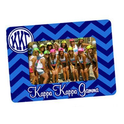 Sorority Chevron Picture Frame - 4x6 - UN5899