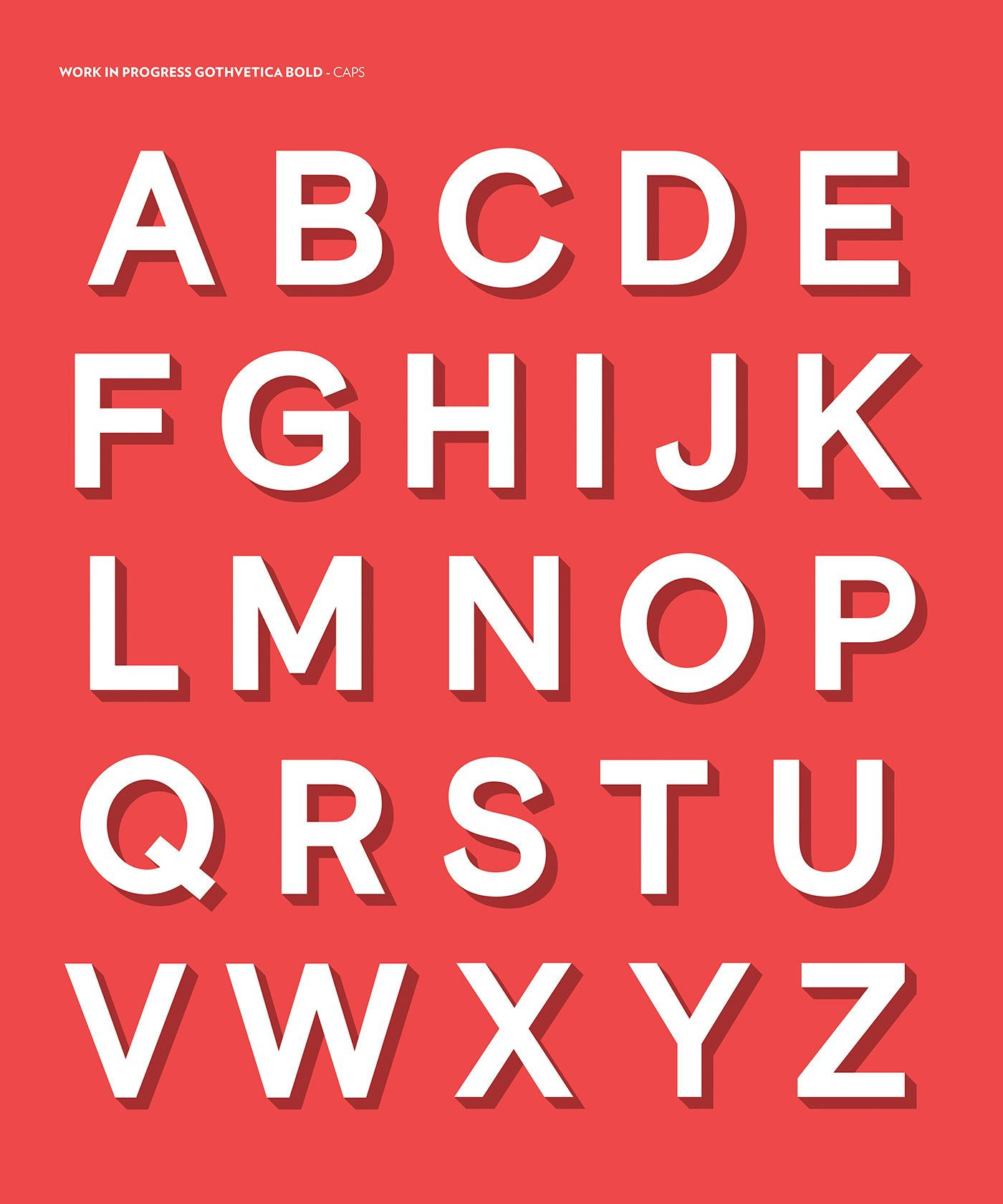 Download Gothvetica (Free Font) on Behance | Free font, Logo fonts ...