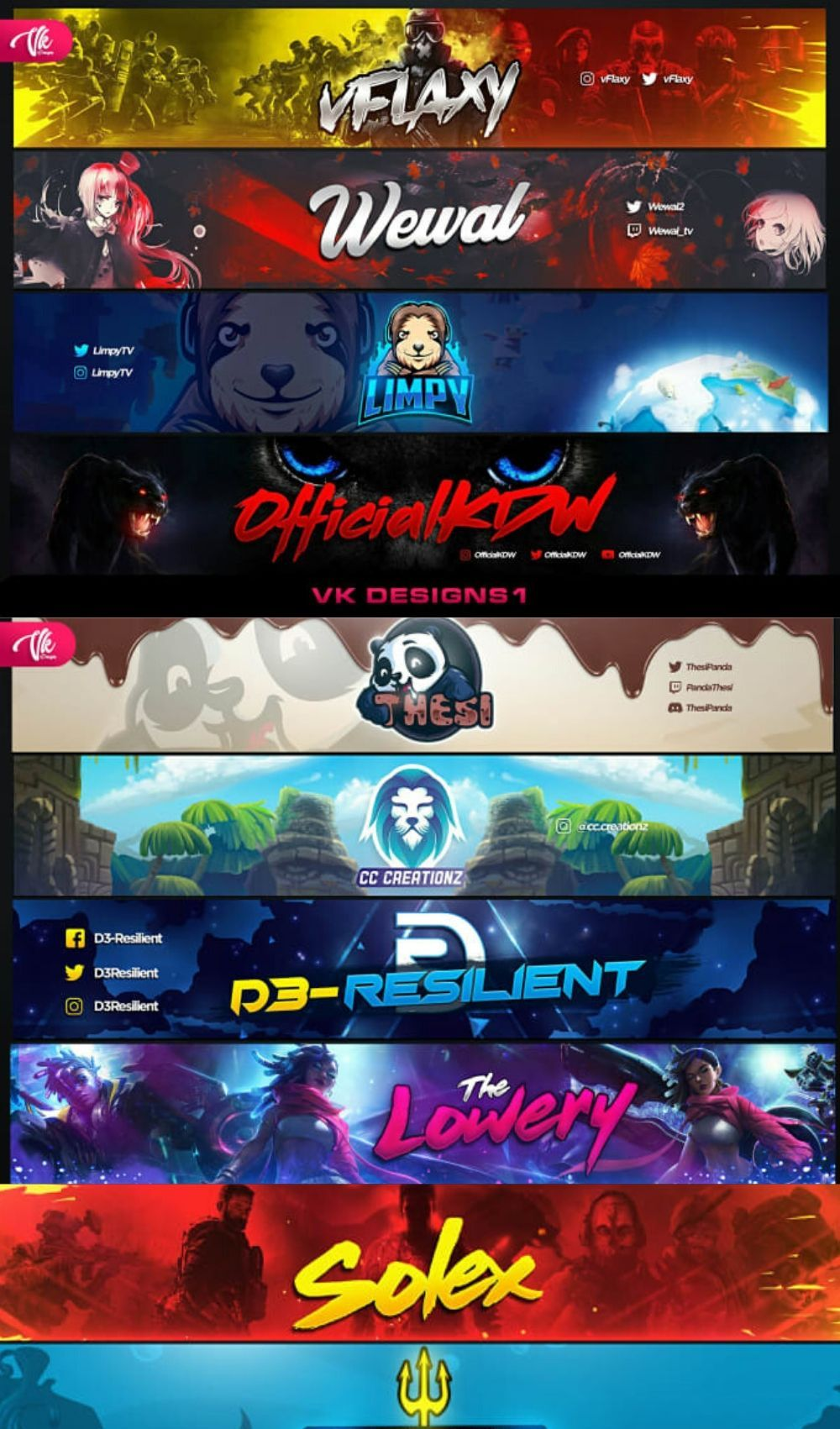design a youtube banner, gaming banner, twitch banner