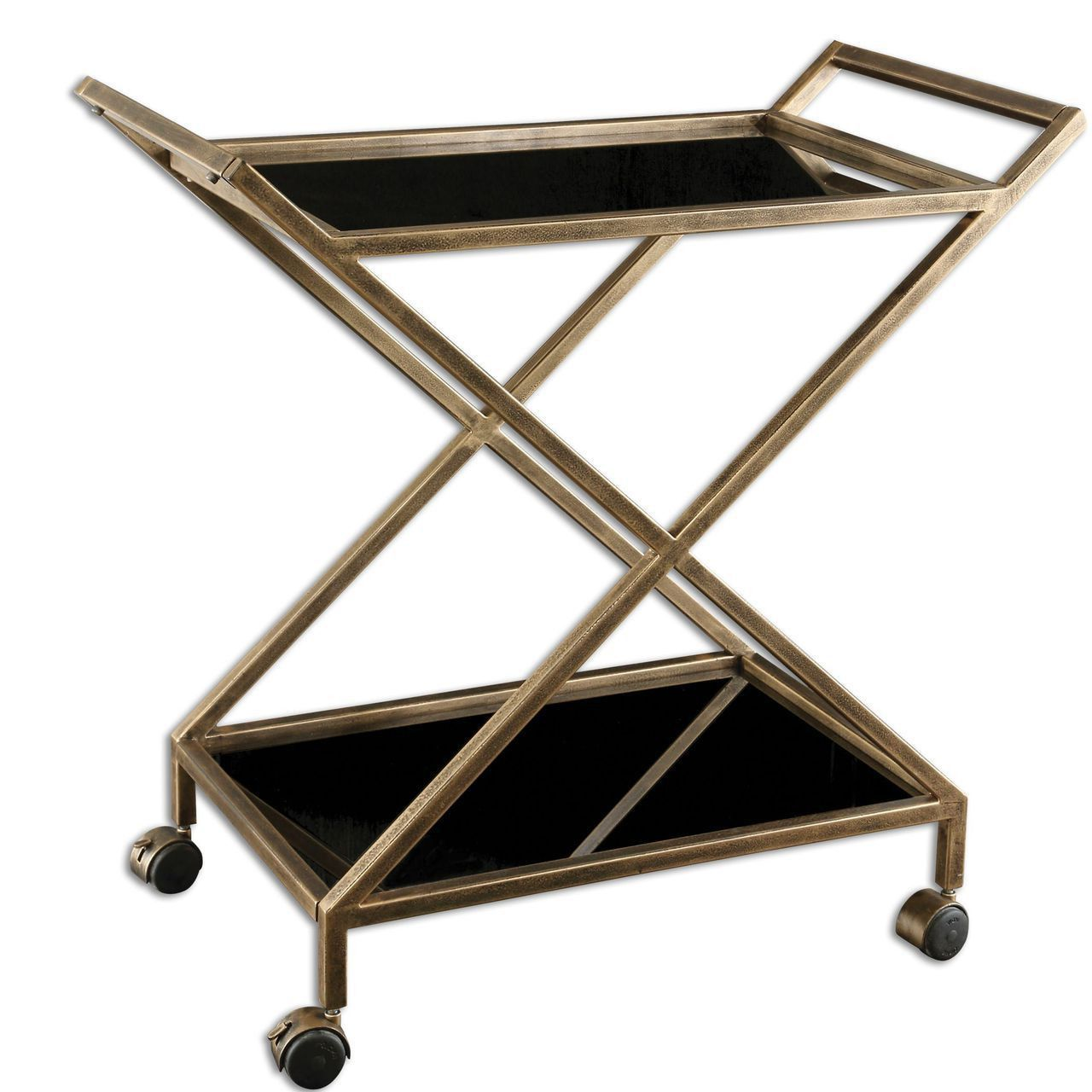 Uttermost Zafina Gold Bar Cart | Products | Pinterest | Gold bar ...