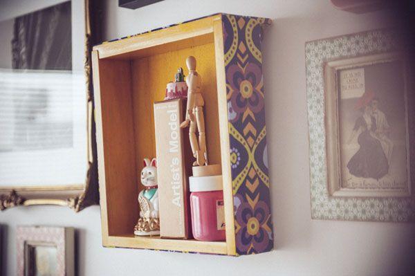Un viejo caj n transformado en estante decorativo - Cajones decorativos ...