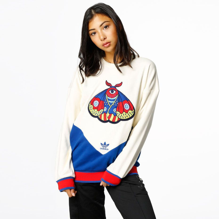 e8d55914 adidas Originals Embellished Arts Sweater. Junkyard Exclusive in  Scandinavia. - Generös passform.-