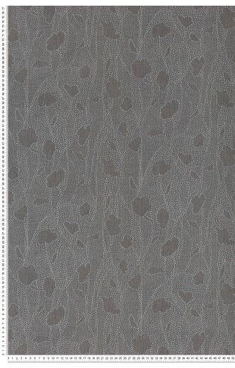 Broderie gris foncé - Papier peint Nomadics de Lutece | salon ...
