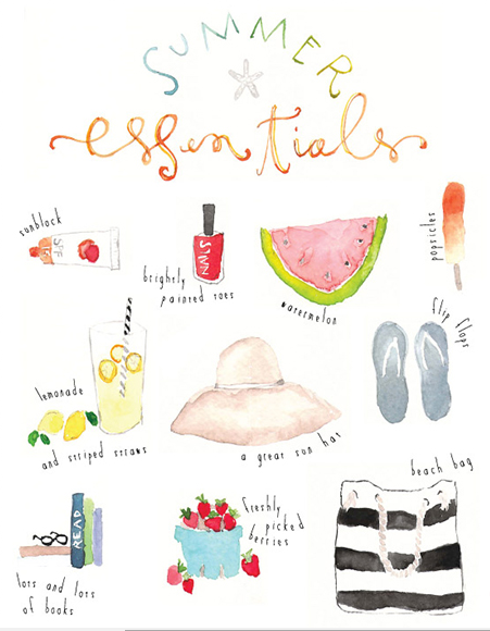 Oh the lovely things summer essentials