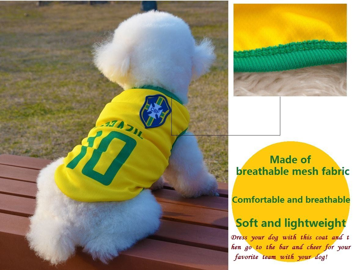 467574685 Dog Clothes Football Tshirt Dogs Costume National Soccer World Cup FIFA  Jersey for Pet Brazil