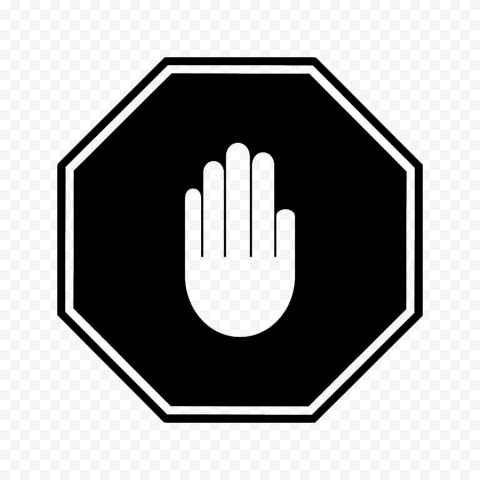 Hd Black Stop Hand Sign Icon Symbol Png Symbols Png Signs