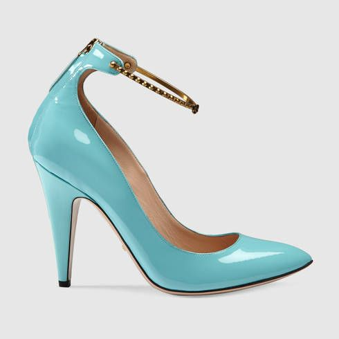 391b630eb7c3 GUCCI Patent Leather Ankle Strap Pump.  gucci  shoes  women s pumps ...