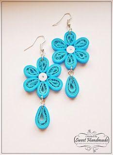 Quilling Jewelry - Blue Earrings By Sweet Handmade