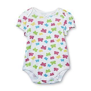 small wonders newborn girl s short sleeve bodysuit butterflies