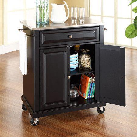 $248.95 Raleigh Kitchen Cart in Black