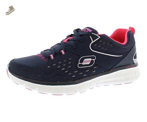 Skechers Sport Women's Front Row Fashion Sneaker Black Size 9