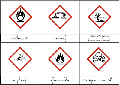 Assez DIY Montessori: nomenclature des pictogramme de danger | documents  JL68