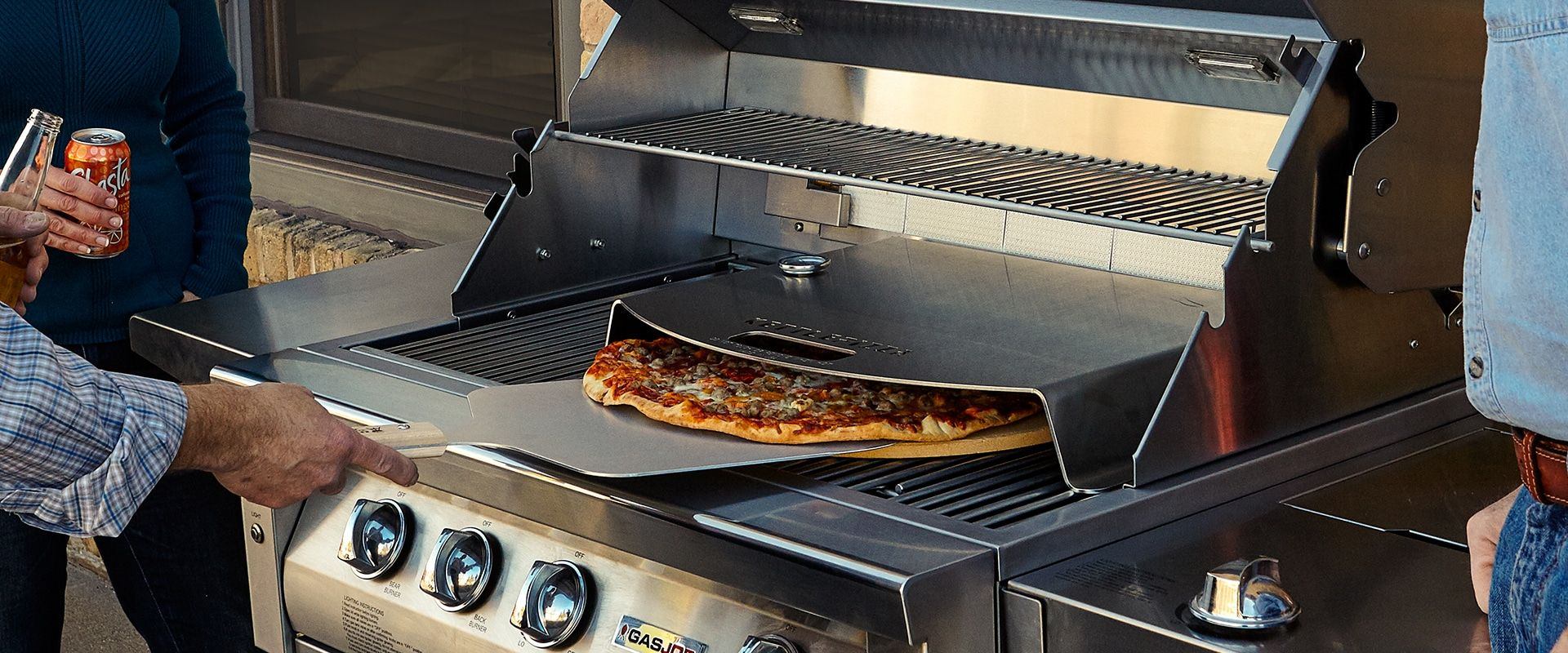 Gas Grills Kettlepizza Gas Pro Oven Inserts Let You Make Great Pizza Oven Quality Pizzas At Home On Your Gas Gr Oven Outdoor Pizza Oven Kits Pizza Oven Kits