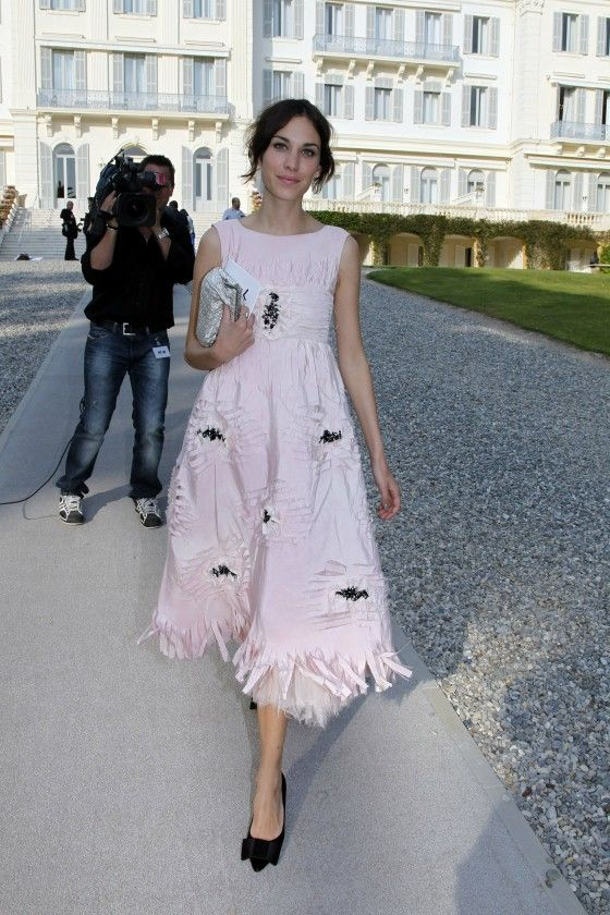 Chanel Pink Dress Alexa Chung