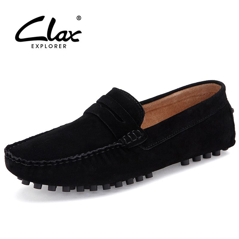 Clax Mens Moccasins Breathable Designer Flat Suede Leather Shoe Male Casual  Loafer Slip On Driving Shoes