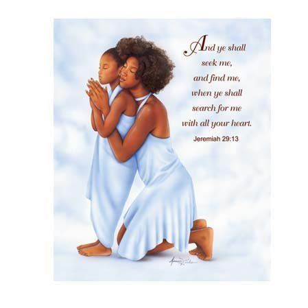 Praying Mother and Daughter | Families Who Pray | Black ...