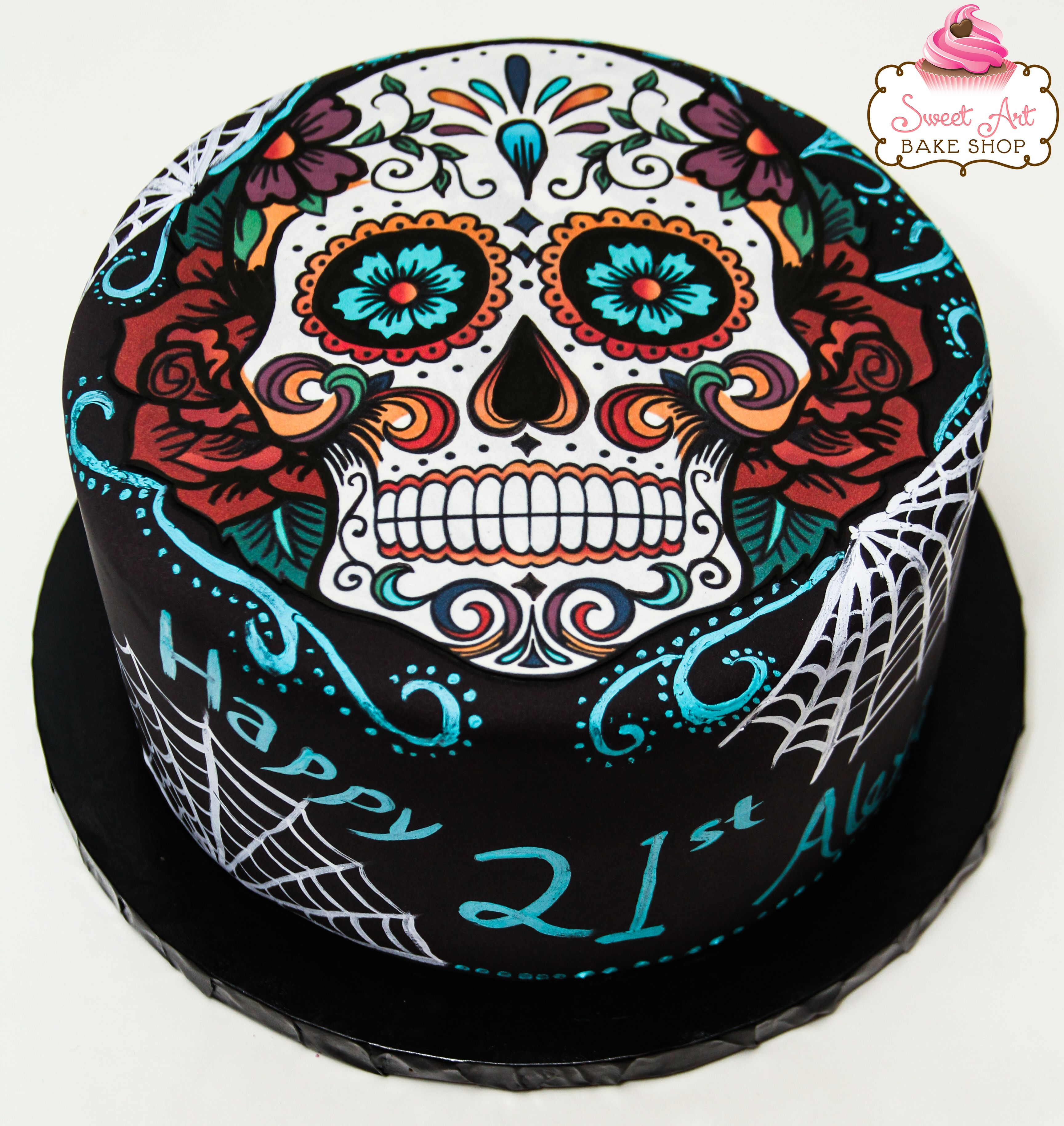 32 best photo of sugar skull birthday cake sugar skull
