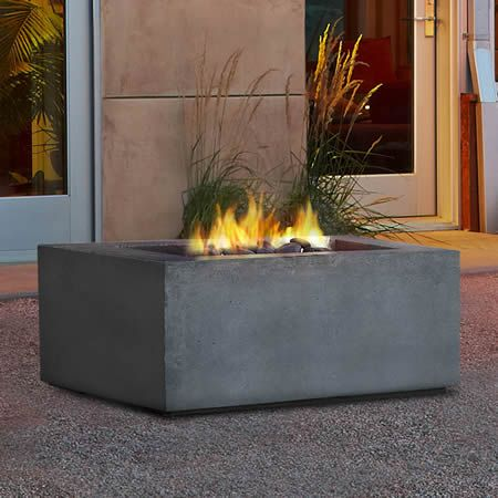 Real Flame Baltic Square Fire Table - Glacier Gray - LP | WoodlandDirect.com: Outdoor Fireplaces: Fire Pits - Gas, Real Flame #LearnShopEnjoy