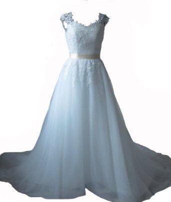 Winey Bridal Ball Gown Sheer Cap Sleeves Corset Bridal Wedding Dresses