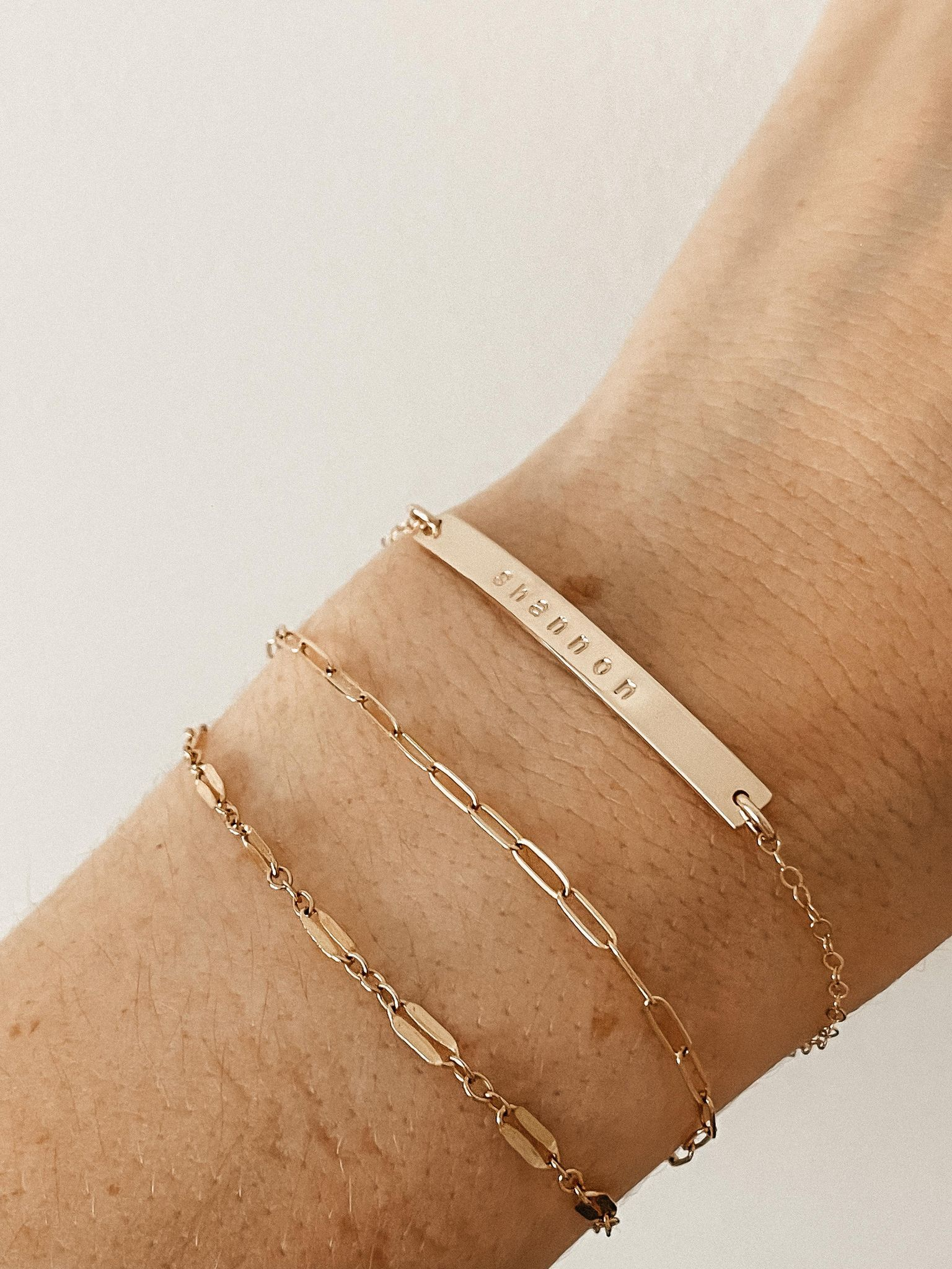 Paisley Custom Bar Bracelet - 9 / Sterling Silver / Cable
