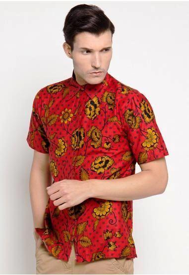 Desain Baju Batik Modern Pria Slim Fit Terbaru | Pakaian ...