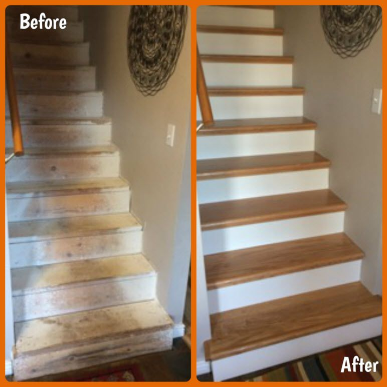 The Revolutionary Do It Yourself Stair Refacing System Fits Right Over Your  Old Previously