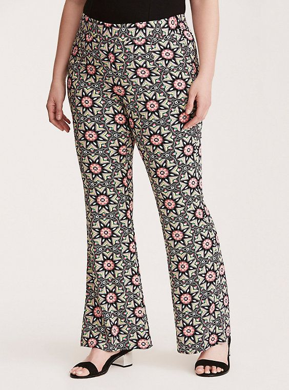 906cb63fca6 Torrid Insider Floral Border Challis Pants