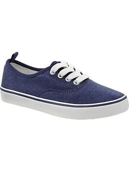 Girls Uniform Canvas Sneakers | Old