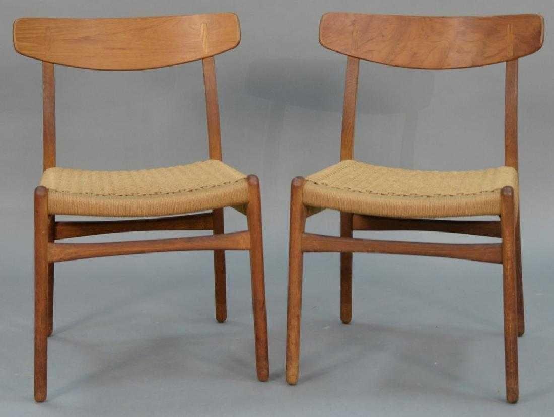 Set Of Six Hans Wegner Dining Chairs Carl Hansen Sons Denmark