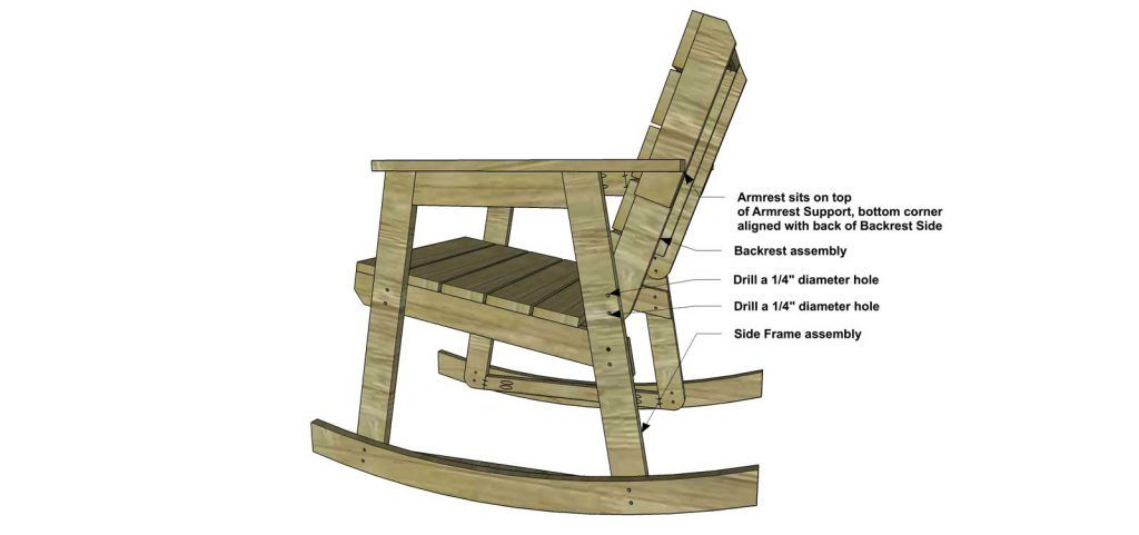 Free Diy Furniture Plans How To Build A Rocking Chair Rocking