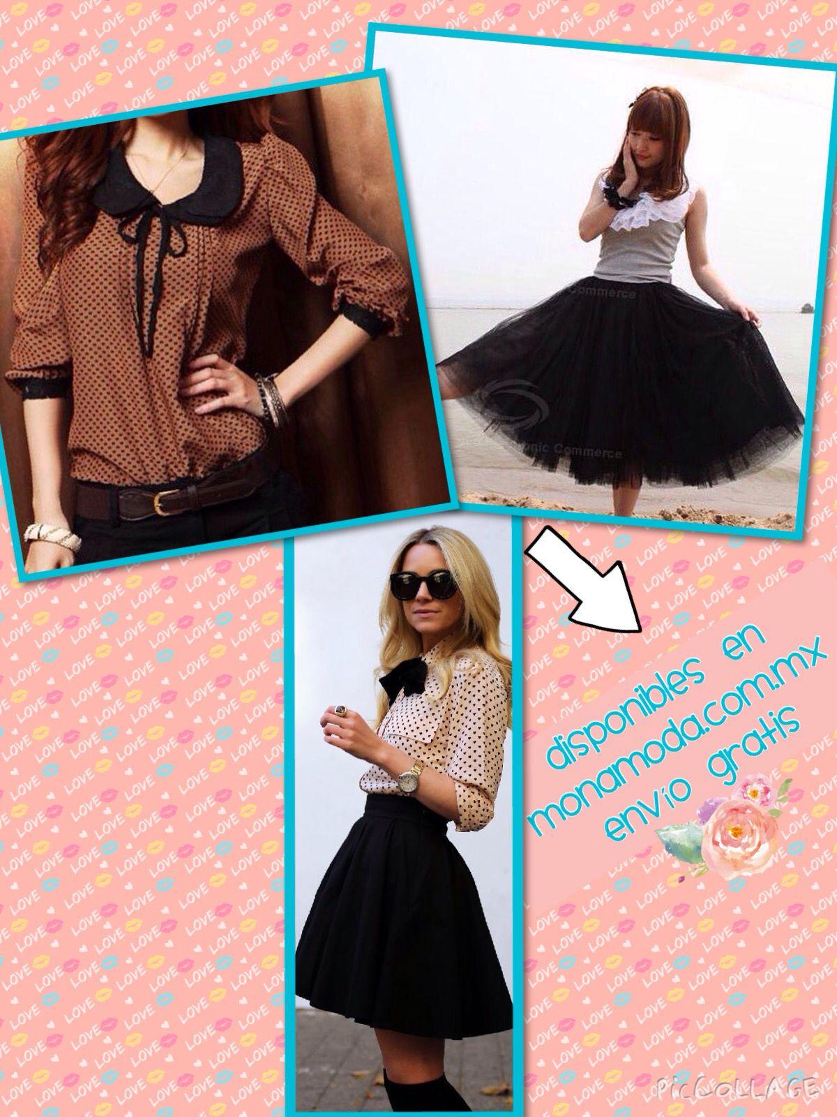 Polka dot y tul, un outfit original. Disponible en www.monamoda.com.mx