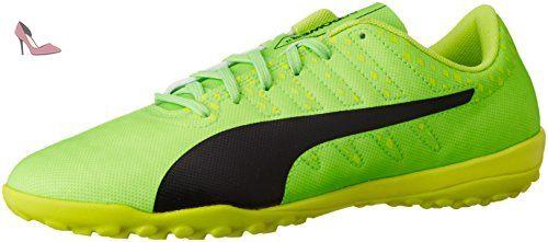 Puma EvoPower Vigor 4 TT Green Gecko / Puma Black / Safety Yellow - Chaussures Football Homme