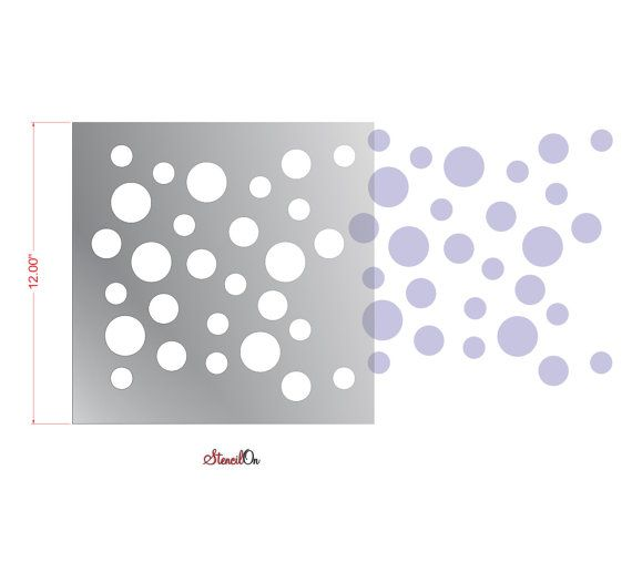 Bubbles Craft And Wall Stencil 12 Quot X 12 Quot 7 Mil Reusable Clear Mylar Bubble Crafts Stencils Wall Stencils