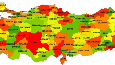Turkiye Fiziki Haritasi Iller Harita Turkiye Cografya