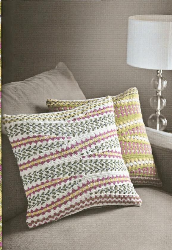Charleston Cushions Free Knitting Pattern Amazing Knitted Cushions