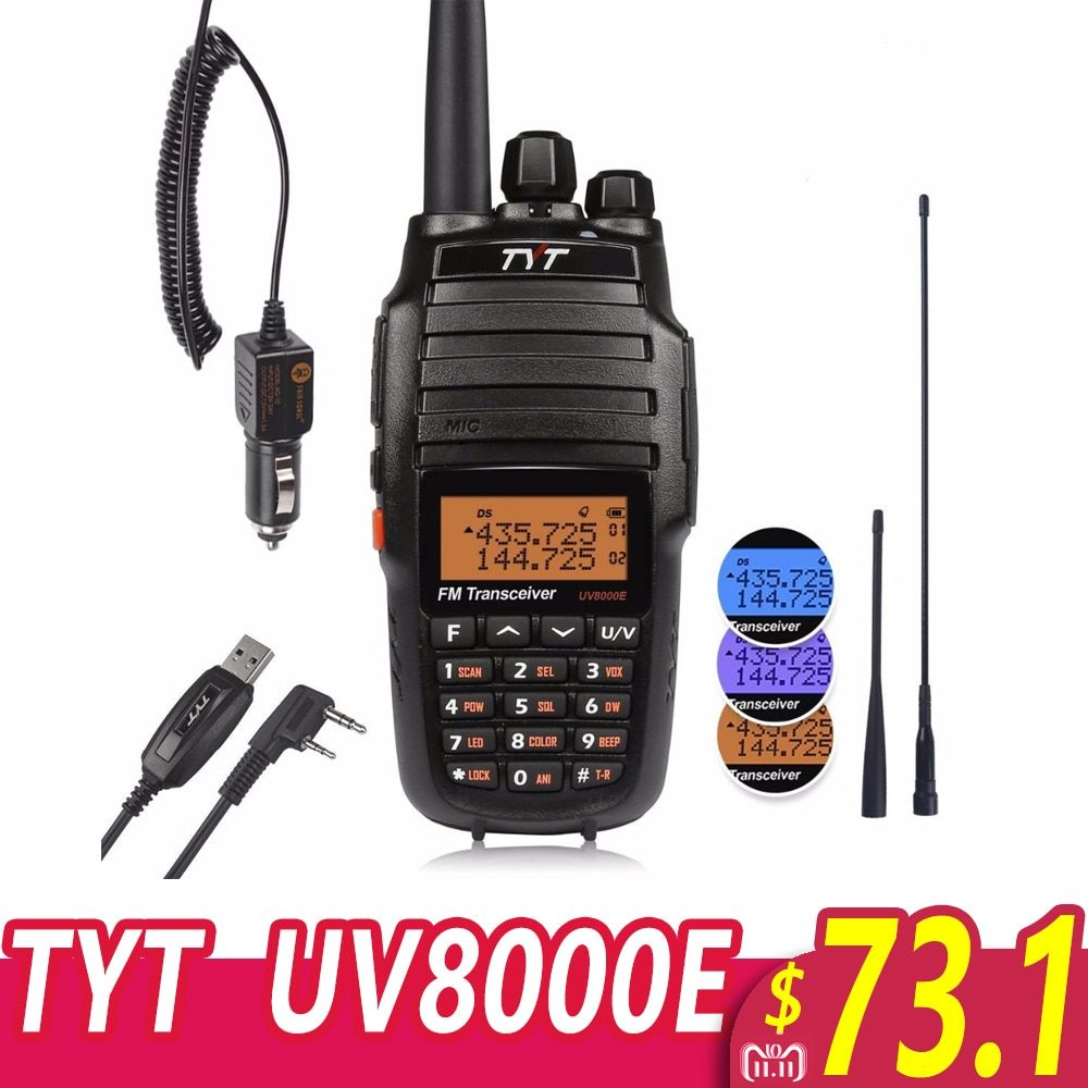 Cable Baofeng GT-3TP MarkIII 1//4//8W High Power 2m//70cm Band VHF UHF Transceiver