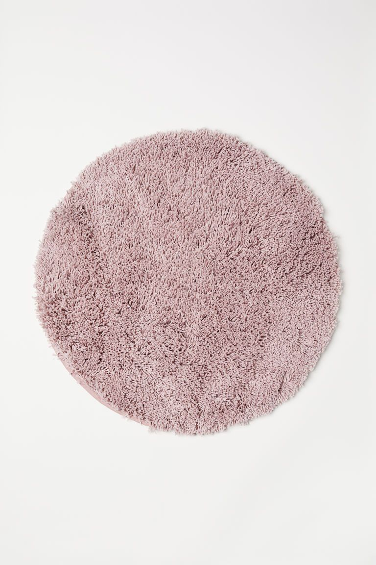 Deep Pile Bath Mat Circle Rug Bathroom Mats Bath Mat