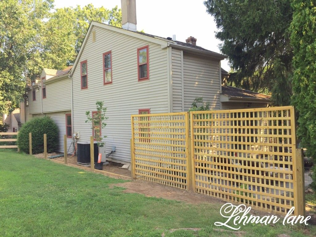 Diy How To Build A Beautiful Square Lattice Fence For Privacy Lehman Lane Diy Fence Fence Decor Backyard Fences