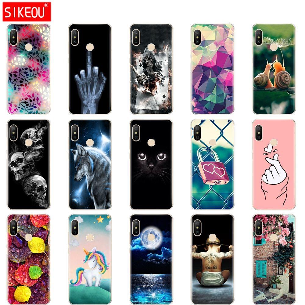 Silicone case for xiaomi mi a2 lite case full protection